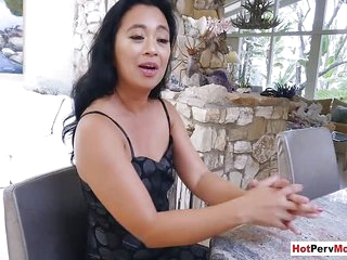 Small titted asian mature..