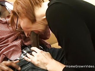Tiny redhead mature gets..