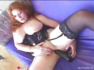 Fat redhead milf gives great..