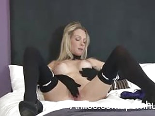 Sexy milf with blonde hair..