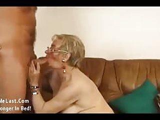 Horny grandma getting her..