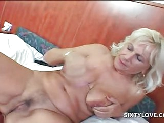 Blonde mature fingering and..