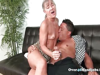 Nasty Mature Jerks Cock Till..