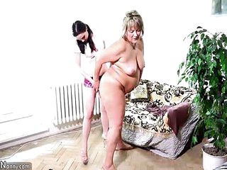 Lesbian fucking with old..
